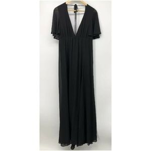 Show Me Your Mumu Dress Black Maxi Faye Flutter M